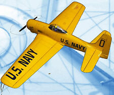 MODEL AIRPLANE PLANS CONTROL LINE  STUNT BEARCAT FULL SIZE PRINTED PLAN + NOTES