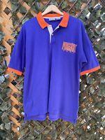 Vintage Phoenix Suns Polo Shirt Mens XL 90s Nba Purple Barkley Marjerle Kidd VTG