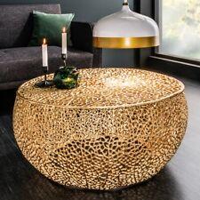 cagü: ASTSTRUKTUR-DESIGN COUCHTISCH [NUBE] GOLD ALUMINIUM handgefertigt 80cm Ø