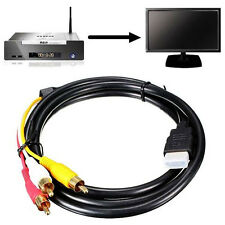 1.5M 5Ft HDMI To 3-RCA Video Audio AV Component Converter Adapter Cable For HDTV