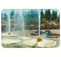 Disneyland Hallmark Vintage Oversize Unused Postcard Mine Train Geysers PDL 21