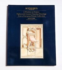 SOTHEBY'S CATALOGUE VENTE NEW YORK 1995 A WINDOW ON VENICE PRIVATE COLLECTION