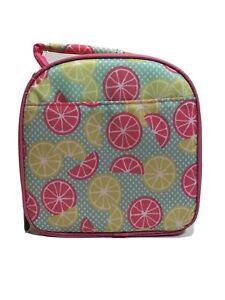 FIT & FRESH Pink Yellow Lemons Chiller Lunch Bag