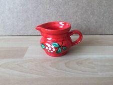 Wächtersbach Apfel Sahnekännchen Kanne Milchkrug Krug rot grün weiß top