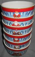 Set (6) Certified International HOLIDAY TRADITIONS Soup/Cereal/Dessert Bowls