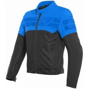 Jacket Moto Man Dainese Air Track Black Light Bleu Taille 54 Perforé Summer