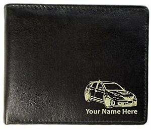 Subaru Impreza STi Design, Personalised Mens Leather Wallet