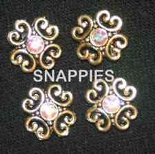 Snappies GOLD CRYSTAL AB  magnetic number pins DRESSAGE SHOW HACK COSTUME