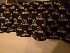 "NEW NFL Pittsburgh Steelers Football Sports Handmade Valance Curtain 57""W x 13"""