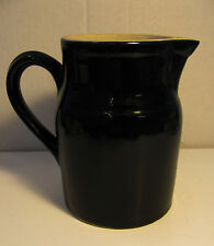 """BEAUTIFUL BLACK VINTAGE PITCHER/ 6 3/4"""" HIGH/ GREAT CD/NICELY MADE"""