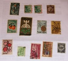 13 STAMPS OF ISRAEL  1949 TO 1962 USED