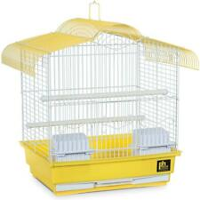 "Small Parakeet Canary Bird Cage 16""H with 2 Perches, Cups, Removable Grille Tray"