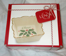 Lenox Holiday Cheer Fluted Candy Dish New