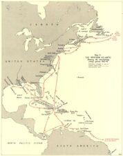 BATTAGLIA DELL'ATLANTICO. Western Atlantic. CONVOGLIO System 1942-43 1956 OLD MAP