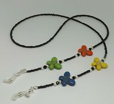Bright Coloured Butterfly Beaded Handmade Glasses Chain Spectacles Holder Chain