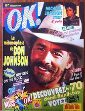Ok Magazine n°799; Don Johnson/ Mickson Jackson/ New Kids on the Block/ Barney