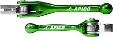 new KX 65 85 100 KX125 250 00-08 Trick Apico Flexi Brake & Clutch Levers Green