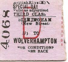 B.R. Edmondson Ticket - Birmingham New Street to Wolverhampton