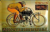Motocycles Cottereau Blechschild Schild 3D geprägt gewölbt Tin Sign 20 x 30 cm
