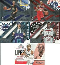 2015-16 Prestige 5 Insert Lot NM Stephen Curry, Chris Paul, Frank Kaminsky RC