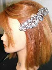 $300 Nina Hair *Karenna* Swarovski Crystal Feathers & Bows Hair Comb Bridal