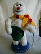 """Gemmy Frosty The Snowman 18"""" Christmas Animated Dancing Spinning Snowflake"""