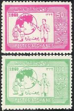 Afghanistan 1960 istruzione/alfabetizzazione/Insegnante/Bambini/Globe 2 V Set (n26224)