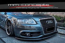 CUP Spoilerlippe für Audi A6 S-Line S6 Typ 4F Facelift Front Spoiler Schwert IN