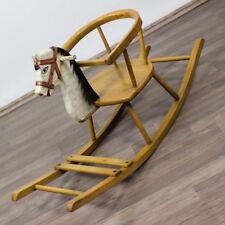 altes Schaukel Pferd Buche Kleinkind Vintage Rocking Horse 50er Jahre vintage