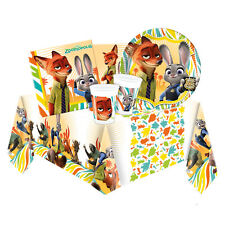 Disney ZOOTROPOLIS Party Tableware Range (Kids/Birthday/Napkin/Plates) Zootopia