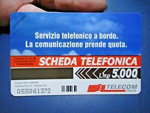 """SCHEDA TELEFONICA NUOVA """" SERVIZIO TELEFONICO A BORDO """" LIRE 5.000 - TELECOM"""