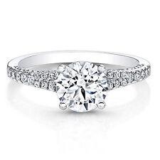 Diamond Engagement Ring Fine 14K White Gold Wedding Rings 0.86 Ct Diamond Rings