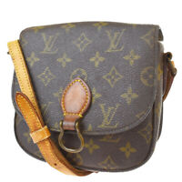 Auth LOUIS VUITTON Mini Saint Cloud Shoulder Bag Monogram Brown M51244 69MG062
