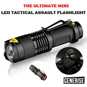 SMALL TORCH Mini Handheld Powerful Camping LED Tactical Pocket Flashlight Bright
