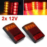 2x 12 V Rear Stop LED Lights Tail Brake Indicator Truck Van Lamp Trailer Light