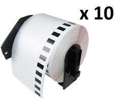 Compatible con 10x DK11202 62x100mm etiquetas de dirección for Brother QL-570