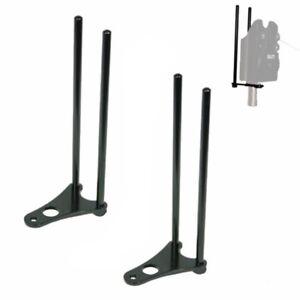 Snag Bars x2 Black Lightweight For Bite Alarms Carp Fishing Snag Ears