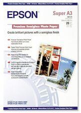 Epson Premium (Super A3) 329x483mm Semi-Brillant Papier Photo 251g / m2 (Blanc)