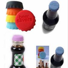6PCS Reusable Silicone Bottle Caps Beer Coke Soda Cola Lid Wine Saver Stopper CA