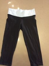 Victoria Secret Yoga Pants Size XS Knee Length Tights With Blue Waistband