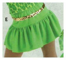 Lime Green dropwaist ruffled skirt Ladies extra large sz 12-14 dance costume