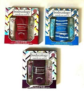 Bodycology Fragrance Mist & Body Cream Warm& Cozy Socks 3PC Set Choose Fragrance