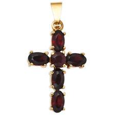Natürliche Echtschmuck-Halsketten & -Anhänger Kreuz-Granate