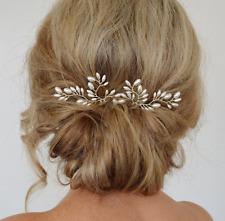New Wedding Bridal Pearl Hairpins Crystal Hair Clip Bridesmaid Crystal Jewelry