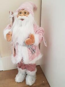 45cm pink santa Father christmas Standing ski boards New