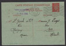 Carte Interzone 80c type Lemagny « Correspondance Commerciale » De Revigny Oblt