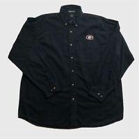 Mens Vintage Heavy Cotton Shirt XL Black G Logo