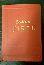 Baedeker TIROL Handbuch für Reisende 1926