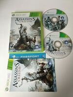 Assassin's Creed III 3 Xbox 360 Complete w/ Manual - Tested- Free Shipping!