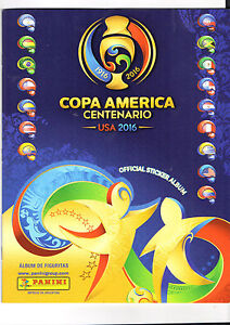 ALBUM   COPA AMERICA CENTENARIO 2016 USA   COMPLETE TO PASTE